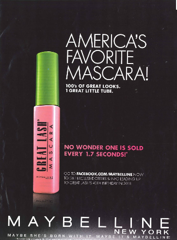 advertising maybelline