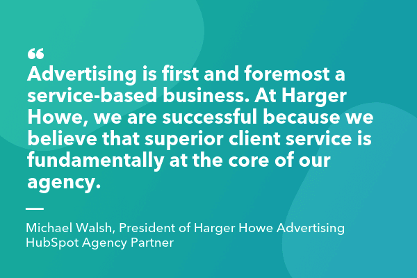 Quote by agency Harger Howe Advertising about target audience in market positioning