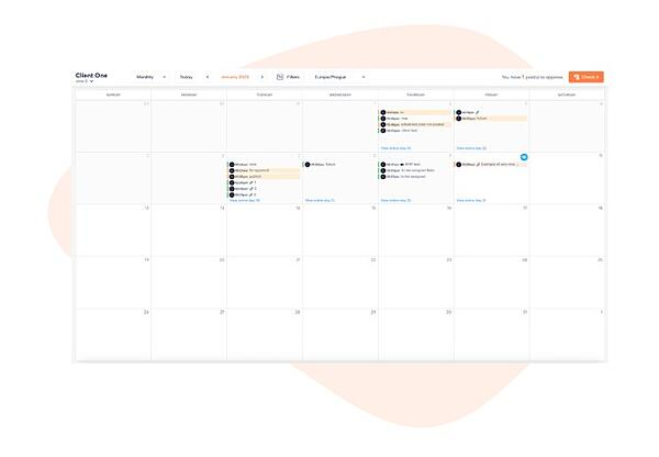 agorapulse social publishing calendar feature