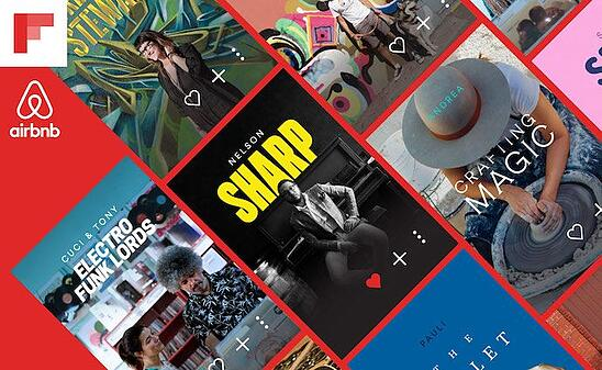 Co-branding partnership between Airbnb and Flipboard on Experiences