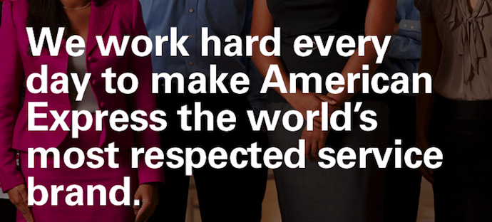 American Express vision and mission statement