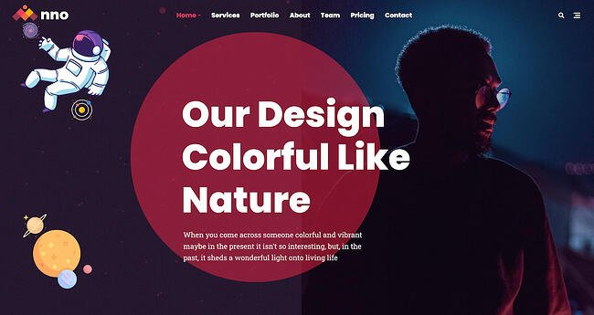 One-page WordPress theme demo for Anno