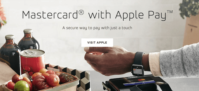Co-branding partnership between Apple and MasterCard on Apple Pay