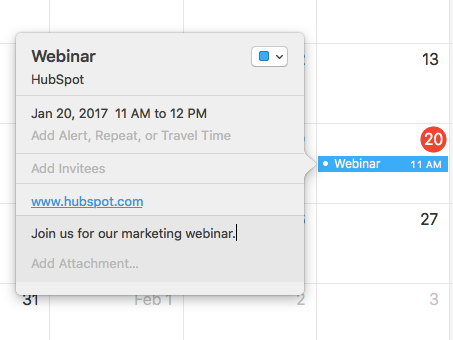How to Insert Google Calendar, Apple Calendar & Outlook Event
