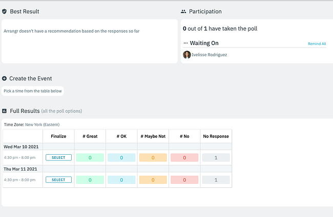Group scheduling tool by Arrangr