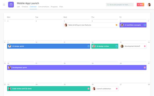asana time management app