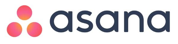 asana logo with three orange and pink circles next to the brand name