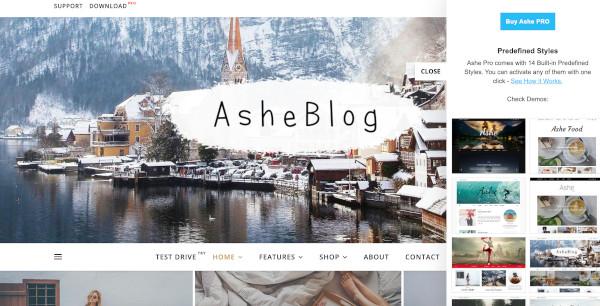 ashe elementor theme