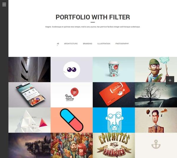 aside wordpress tumblr theme portfolio homepage with masonry grid demo