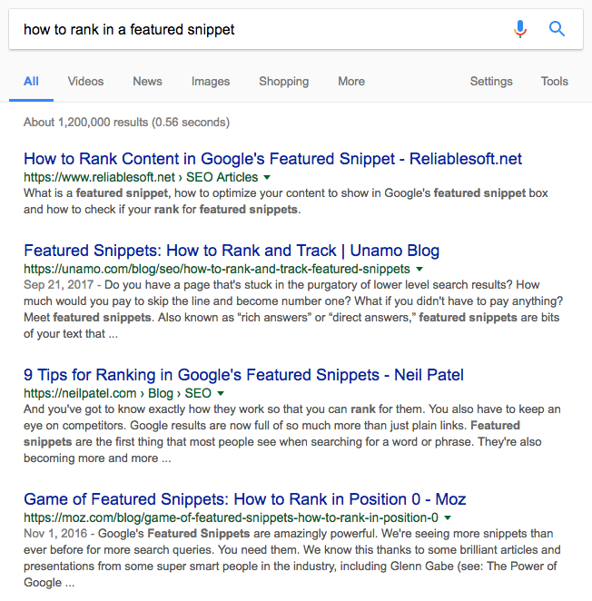 Google SERP