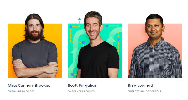 atlassian meet the team page
