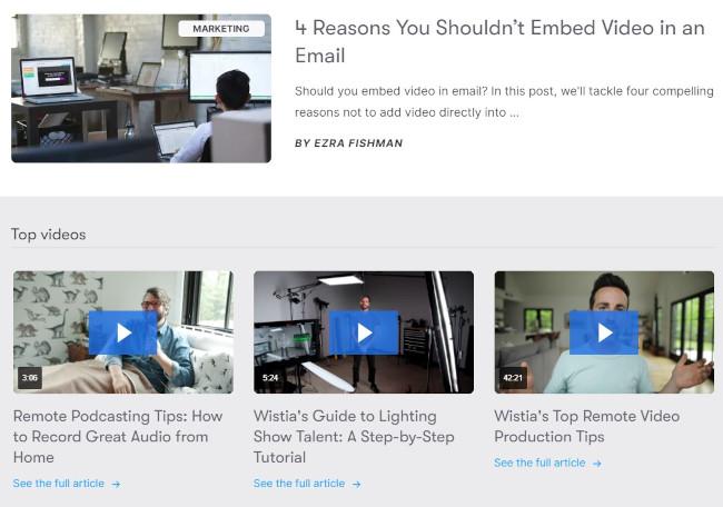 AIDA مثال جلب توجه: مرکز آموزش ویستیا با وبلاگ و ویدئو