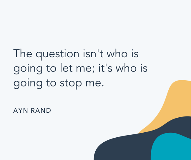 Famous quote by Ayn Rand