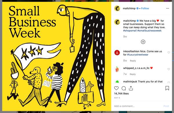 b2b-маркетинг-социальные медиа-MailChimp-Instagram