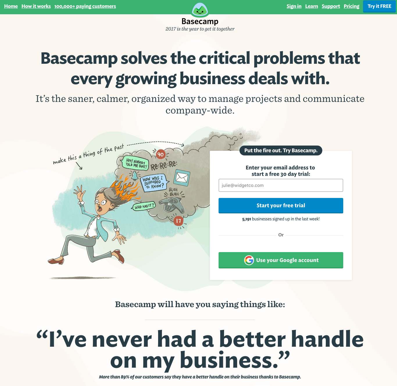 basecamp-homepage-update.png  20 of the Best Website Homepage Design Examples basecamp homepage update
