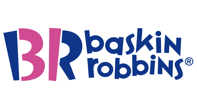 """Baskin-Robbins logo with number """"31"""" subliminally hidden in brand initials"""