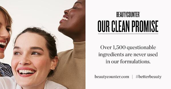 beauty counter brand position graphic that includes beautycounter's clean promise