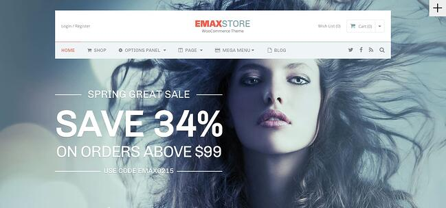 best WordPress ecomerce theme Emax Store