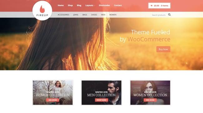 best WordPress ecommerce theme FireUp