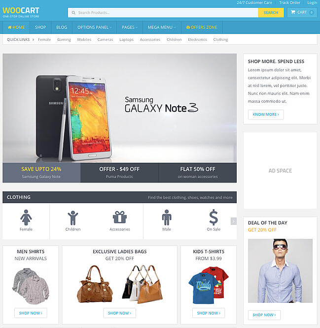 best WordPress ecommerce theme WooCart