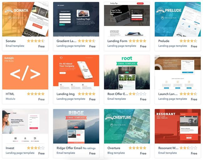 the hubspot content management system theme library