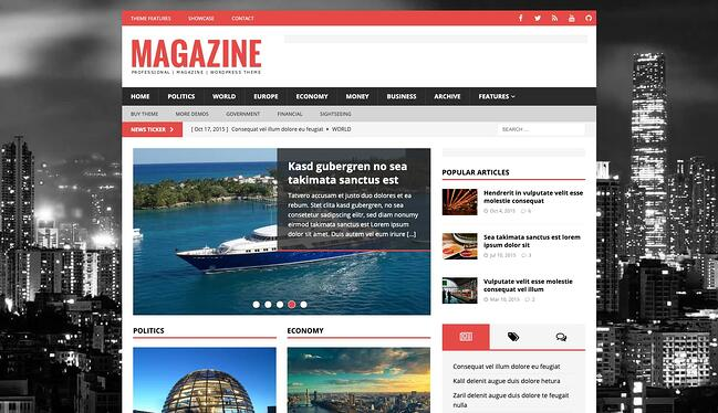 demo page for the best wordpress theme for seo mh magazine