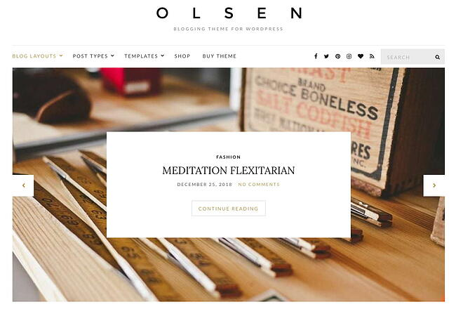 demo page for the best wordpress theme for seo olsen pro