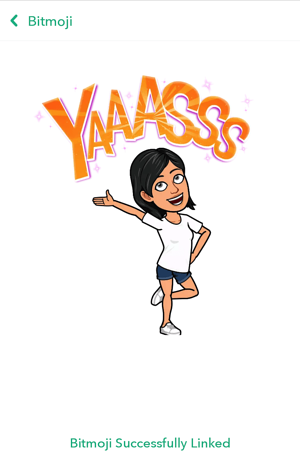 bitmoji-successfully-linked-snapchat