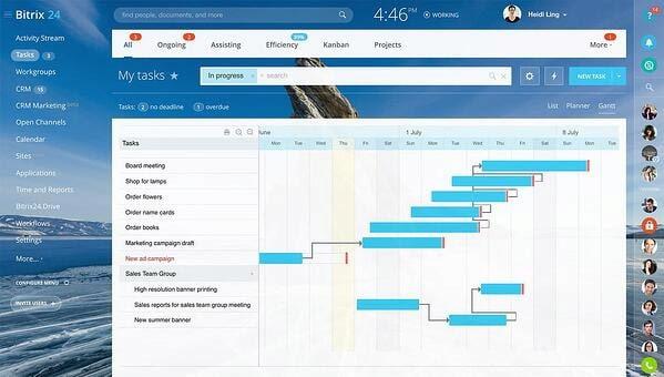 Bitrix24 real estate CRM in task view