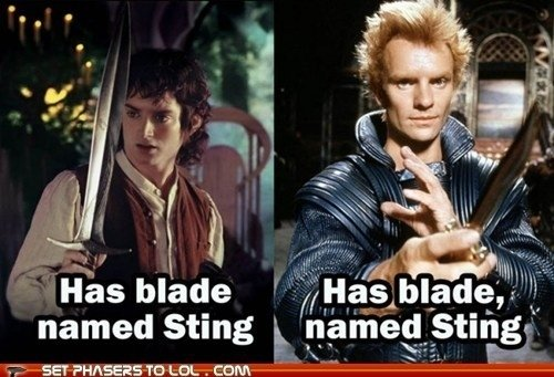 blade-named-sting grammar joke