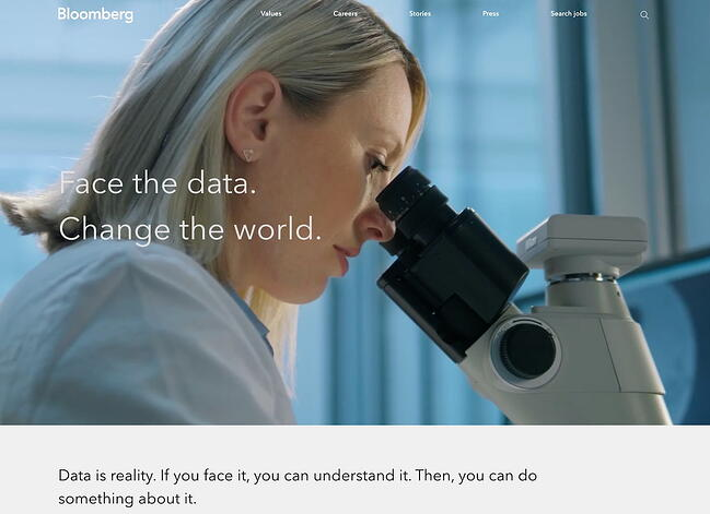 Company profile example: Bloomberg