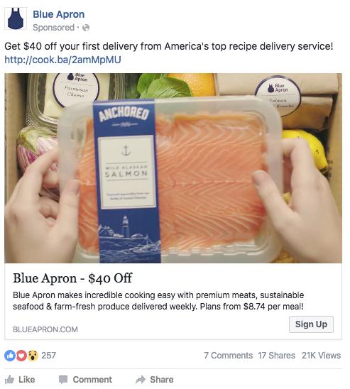 Blue Apron FB ad
