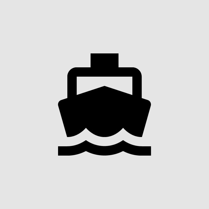 material design filled black boat icon