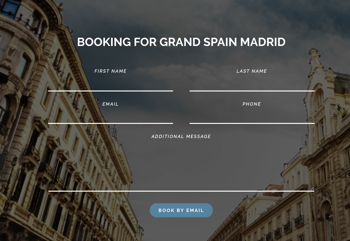 booking form for Altair WordPress theme