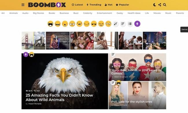Best viral WordPress themes: BoomBox