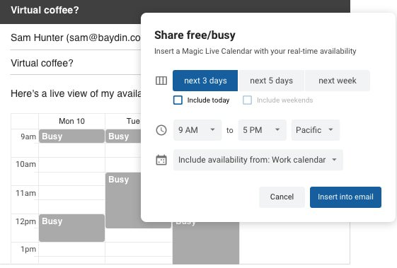 Group scheduling tool by Boomerang