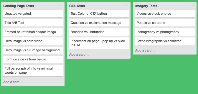 Trello Brainstorm Doc