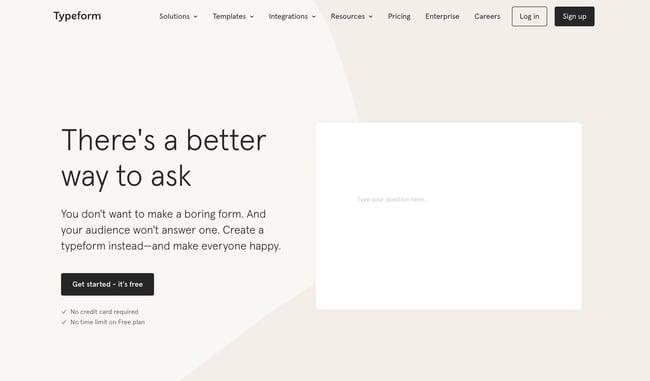 Brand awareness freemium: Typeform
