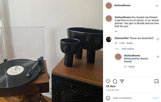Example of brand-interested followers on Instagram