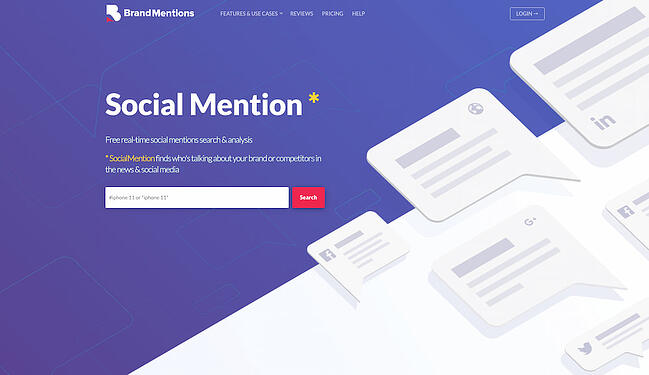 BrandMentions social monitoring platform for market research