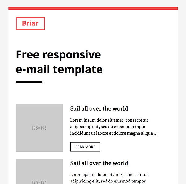 briar email newsletter template slicejack