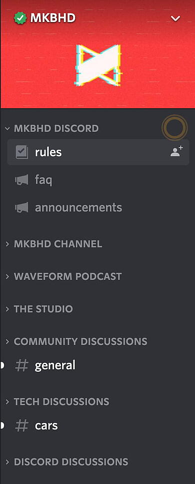 marques brownleee discord sidebar channels example