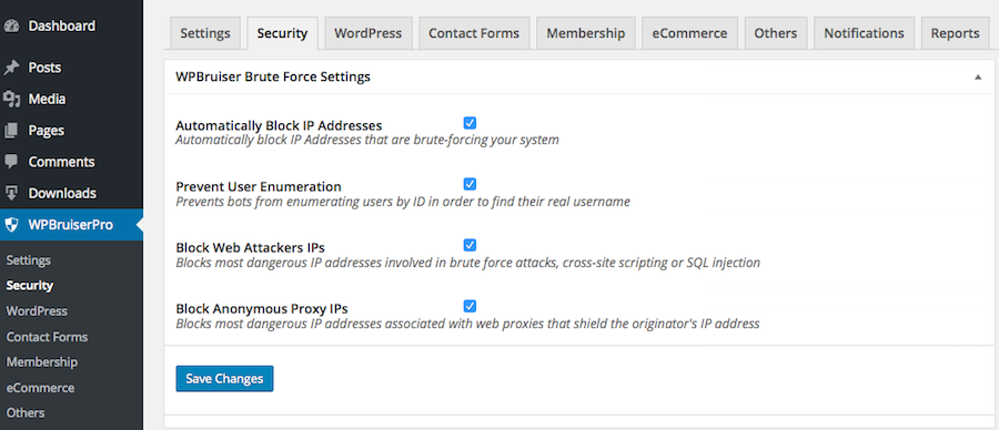 brute force settings for WPBruiser plugin review no captcha anti-spam plugin