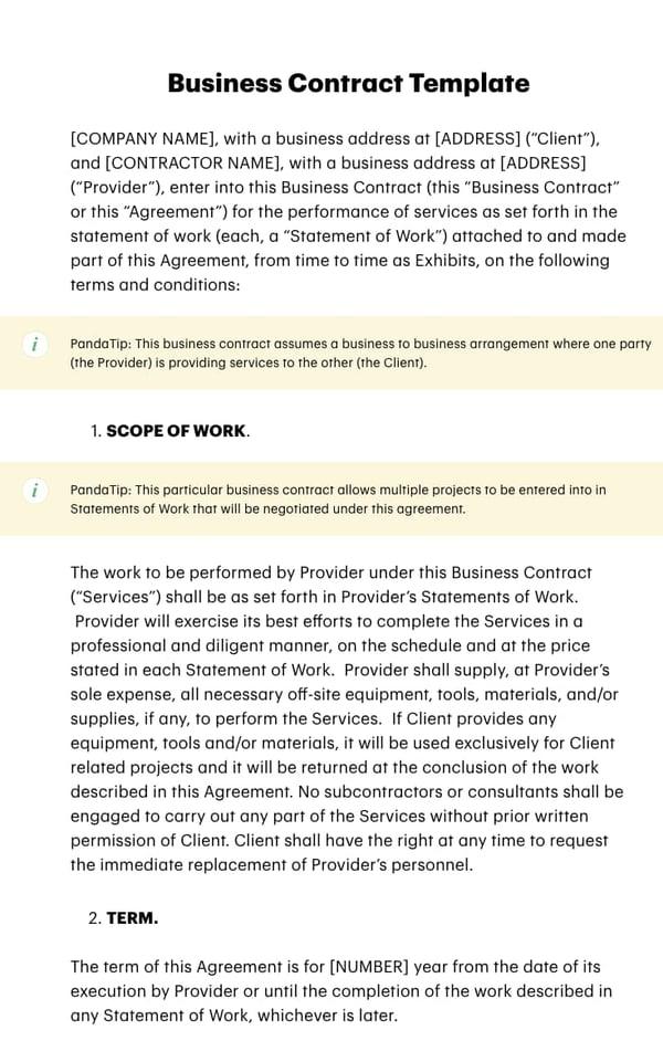 Business Contract Template from blog.hubspot.com