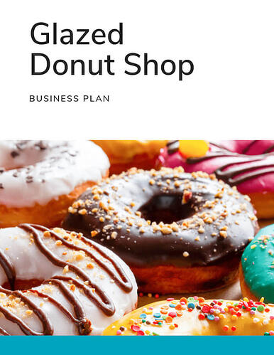 business plan example cover page for glazed donut shop
