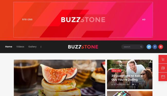 Best viral WordPress themes: Buzz Stone