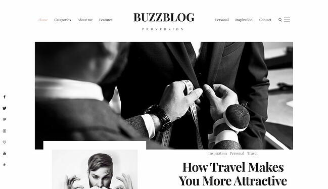 Best viral WordPress themes: Buzz