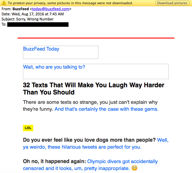 buzzfeed newsletter alt text email marketing campaign
