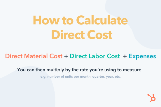 direct cost = direct material cost + direct labor cost + expenses