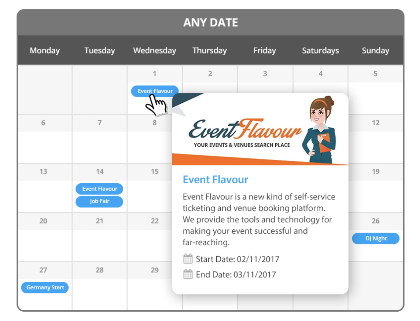 calendar add-on for WP Event Manager plugin review